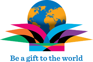 Logo for Rotary International's 2015/16 theme - Be a gift to the world