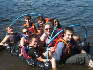 RYLA group on the water