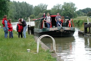 """Diana"" on the Kennet and Avon canal"