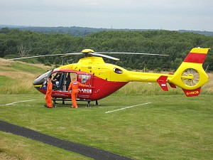 Thames Valley and Chiltern Air Ambulance Trust's new EC135 Eurocopter